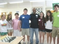 Teen Board members with Chess Instructor Austin Scott